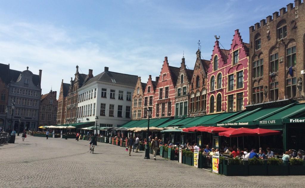 Grote Markt Masallar Şehri Bruges, Brugge, Brügge