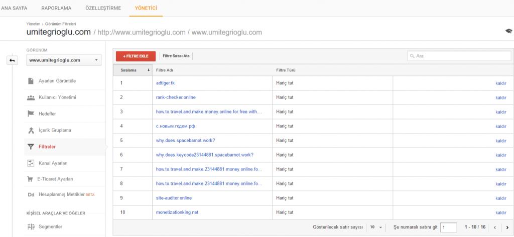 4 Google Analytics istatistiklerini BOT'lara teslim etmeyin