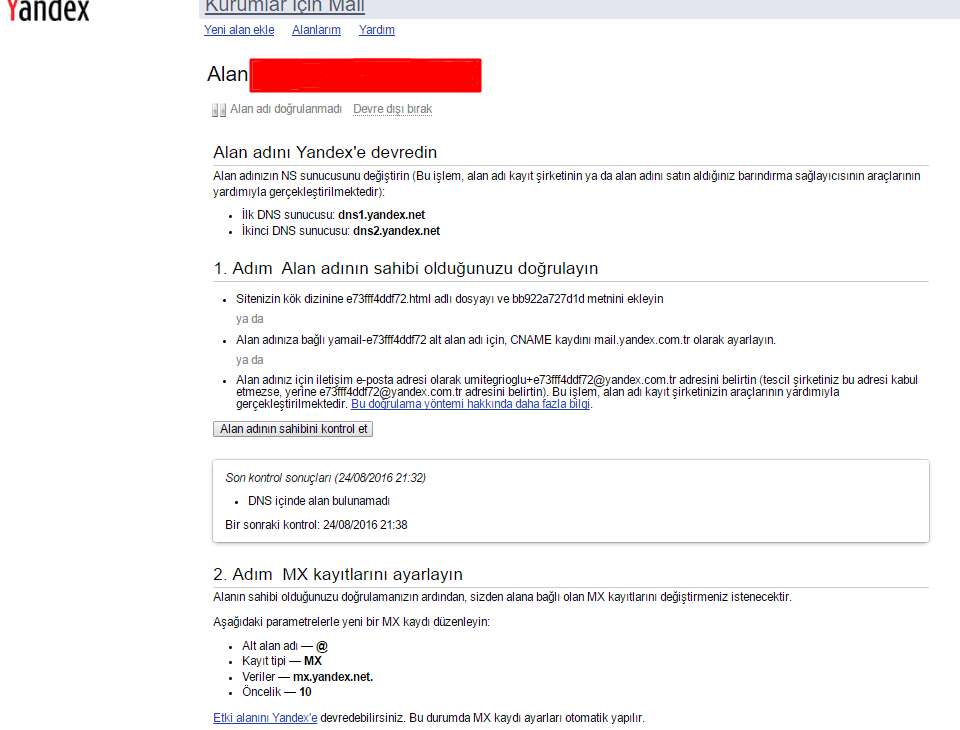 Yandex Kurumsal Yandex Kurumsal(Bireysel) Mail Kurulumu
