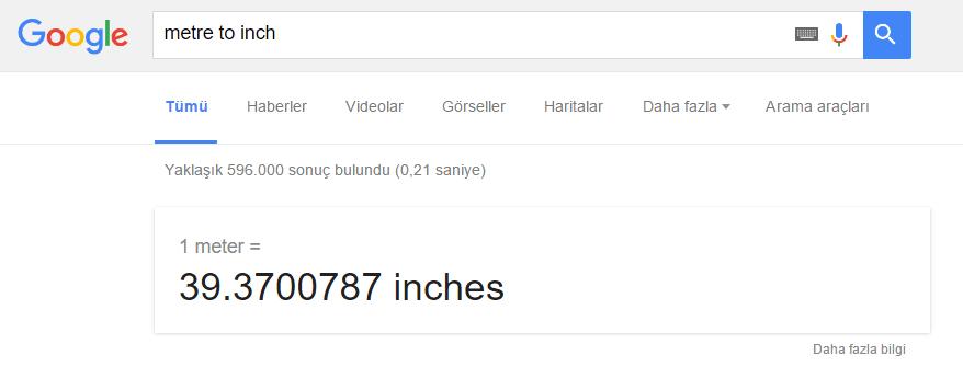 Google_Birim Elim, Ayağım, Google. Arama Yapmayı Biliyor muyuz?