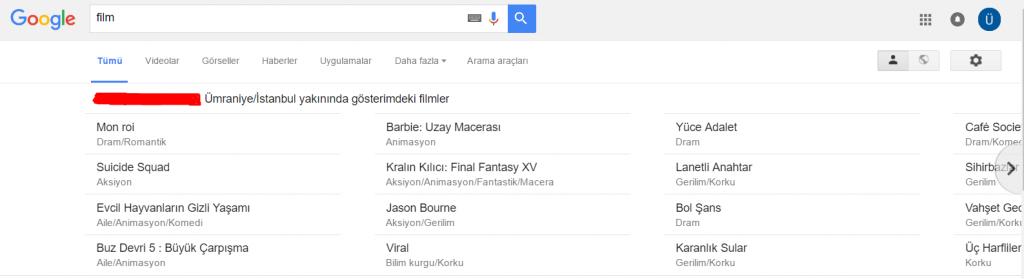 Google_Film Elim, Ayağım, Google. Arama Yapmayı Biliyor muyuz?