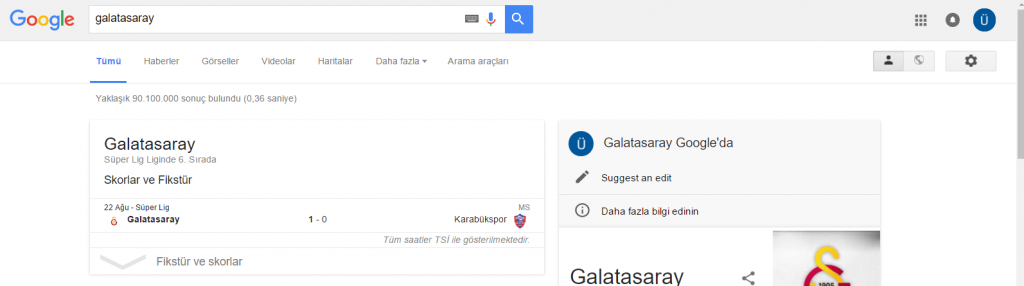 Google_Galatasaray Elim, Ayağım, Google. Arama Yapmayı Biliyor muyuz?