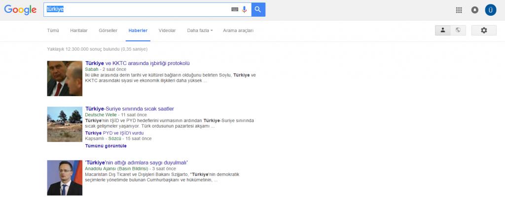 Google_Haberler Elim, Ayağım, Google. Arama Yapmayı Biliyor muyuz?