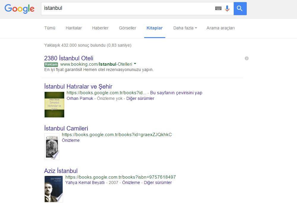 Google_Kitap Elim, Ayağım, Google. Arama Yapmayı Biliyor muyuz?