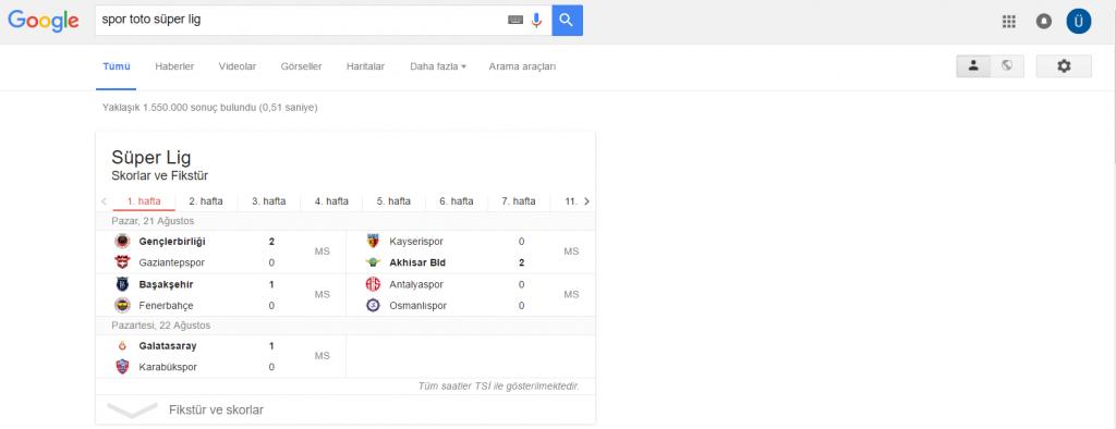 Google_SuperToto Elim, Ayağım, Google. Arama Yapmayı Biliyor muyuz?
