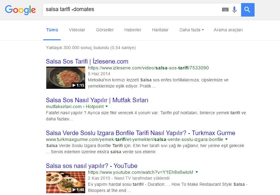 Google_Yemek Elim, Ayağım, Google. Arama Yapmayı Biliyor muyuz?