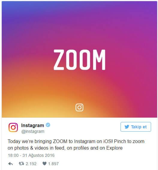 instagram zoom Instagram'a Zoom Özelliği Geldi