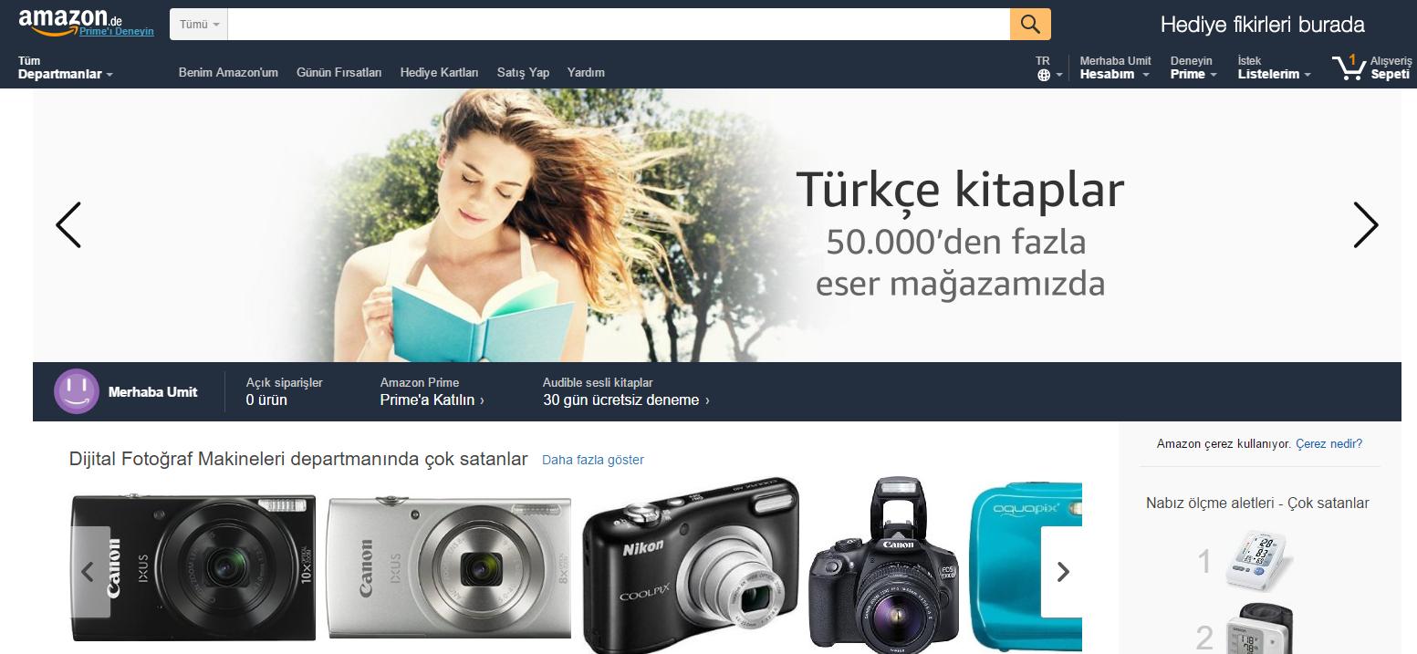 Amazon Sayfa-1 amazon.de Amazon.de Türkçe Desteği ve Ücretsiz Kargo