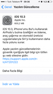 iOS 10.3 iOS 10.3 Güncellemesi Geldi