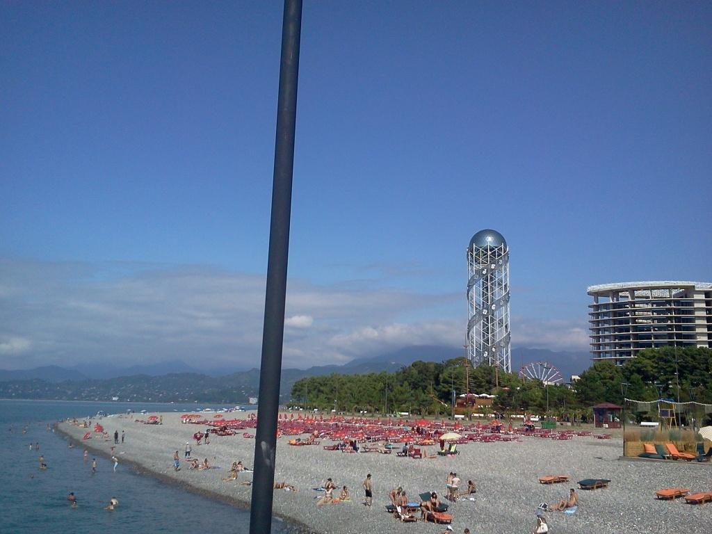 Batum Sahil, Alfabe Kulesi ve Ferris Wheels Dönme Dolap Trabzon'dan Batum'a Yolculuk