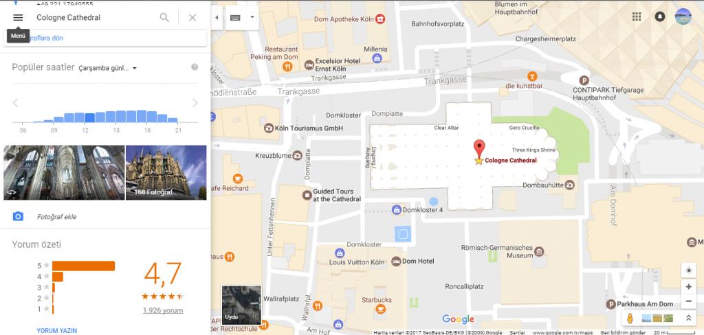 Köln Dom Katedrali Google Harita Katkılarınız Bölümü