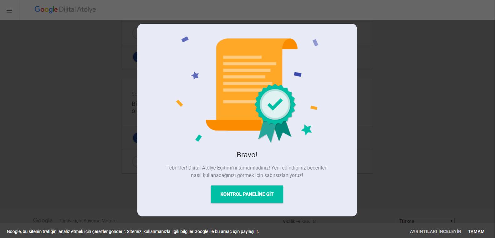 Google Dijital Atölye Google Dijital Atölye Sertifikası'nı ben aldım. Sınava nasıl girilir ve sertifika nasıl alınır?