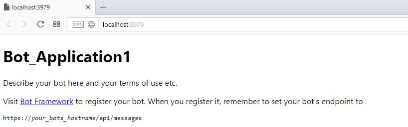 İlk Çalıştırılan Bot sayfası Chatbot Nasıl Yapılır? Microsoft Bot Framework Nedir?